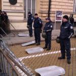 Polizia bulgara abbassa gli scudi in solidarietà.