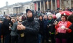 Anti-Thatcher demonstration in Trafalgar Square.  EPA/TAL COHEN