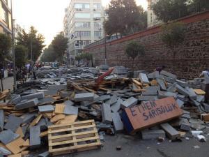 Barricate a Istanbul, Nisantasi.